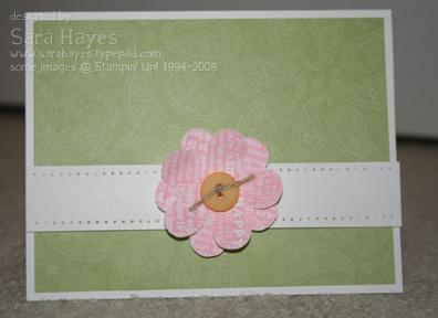 Gift bag flower watermark