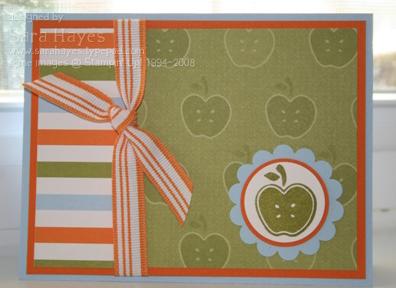 Green apple card watermark