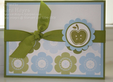Apple flower card watermark
