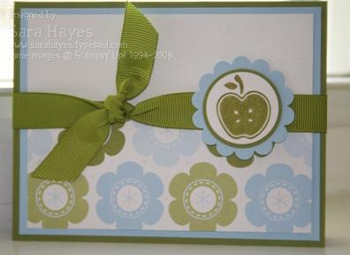 Apple flower card watermark