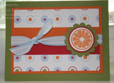 Orange card watermark