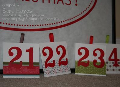 Advent numbers watermark