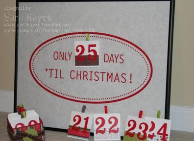 Advent calendar watermark