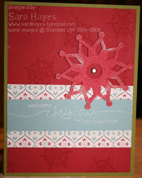 Snowflake card watermark