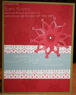 Snowflake card watermark