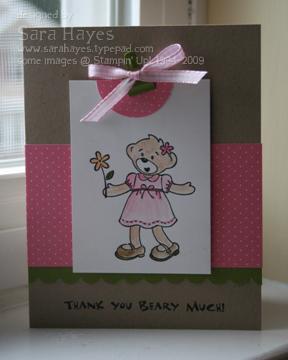 Beary pink watermark