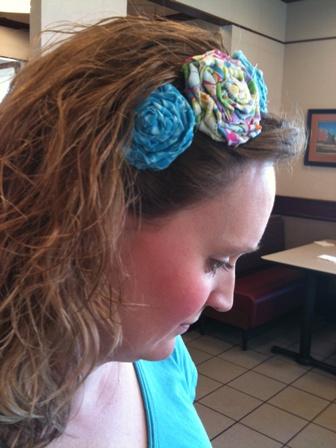 Headband in hair